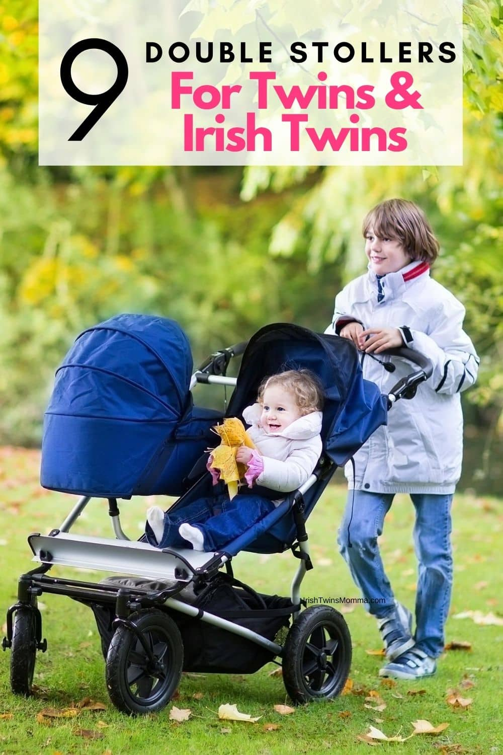 "Side by side strollers have a bit of a bad rap for being bulky and wide. While this can be true, they also offer the best options when it comes to how well a stroller ""drives"" and maneuverability on various terrains. They also allow your children to sit forward-facing and next to each other, promoting more interaction with their surroundings and one another. via @irishtwinsmom11"