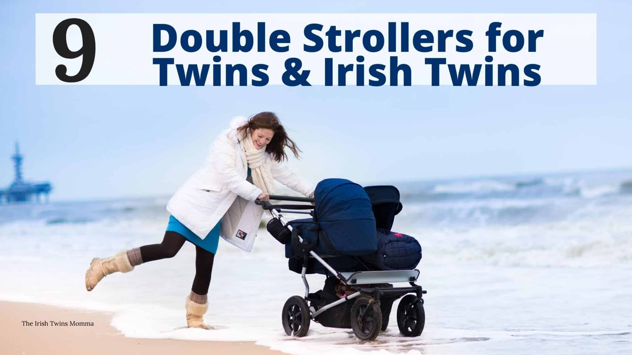 Double stoller for twins and irish twins