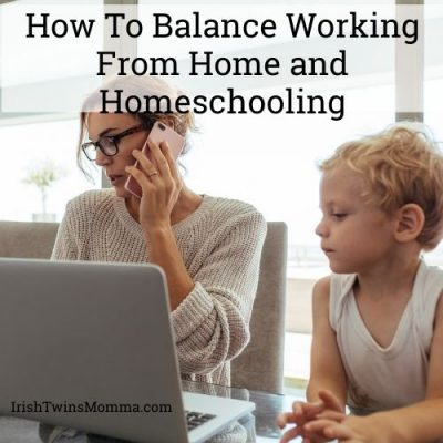 How to Balance WFH and homeschooling