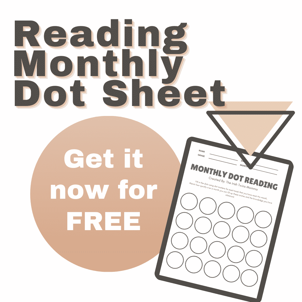 Monthly Reading Dot Sheet